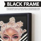 black beauty wall art
