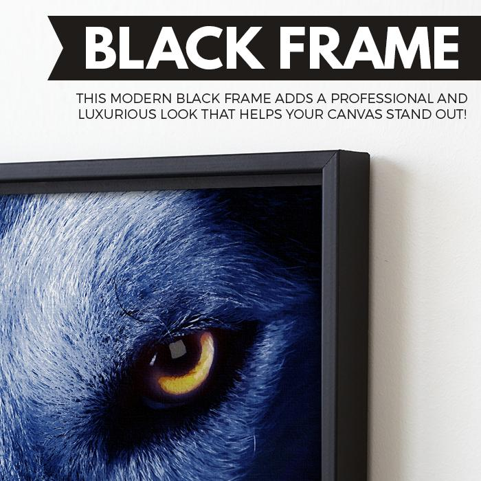 Eye of The Wolf wall art black frame