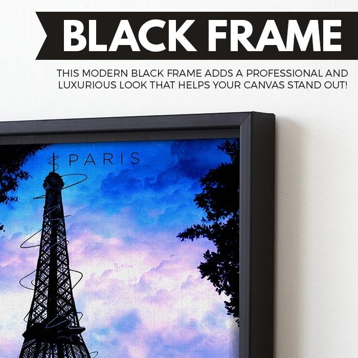 Paris wall art black frame
