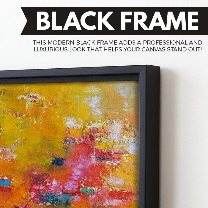 Rhapsody Of Spirit abstract wall art black frame
