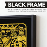 The King - Black/Gold Edition wall art black frame