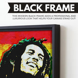 Bob Marley wall art black frame