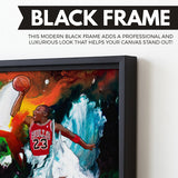 Michael Jordan wall art black frame
