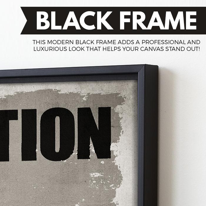 Action wall art black frame