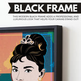 Audrey Hepburn wall art black frame