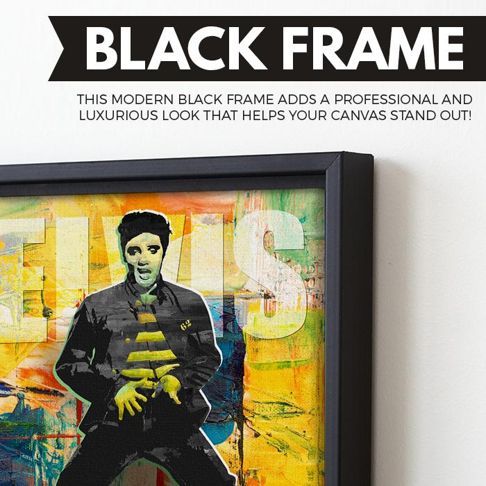King of Rock and Roll - Elvis Presley wall art black frame