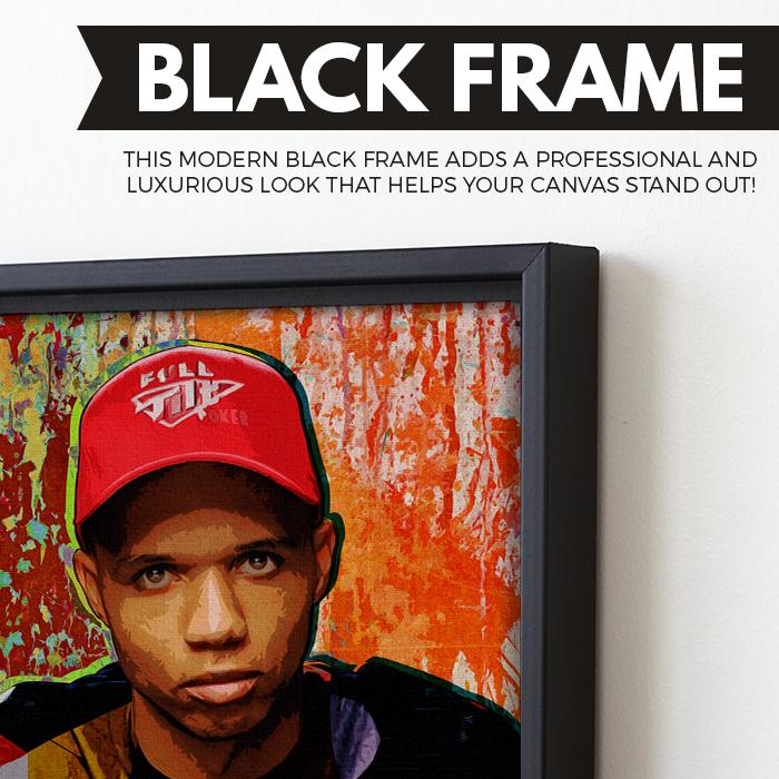 Phil Ivey wall art black frame