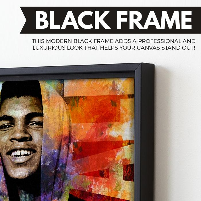 Muhamad ali The Champ wall art black frame