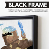 Boba Fett wall art black frame