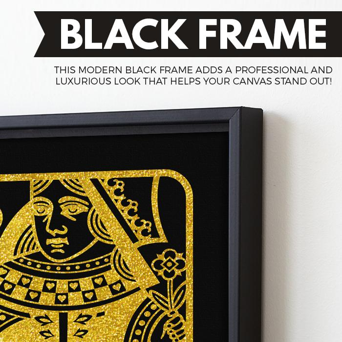 The Queen - Black/Gold Edition wall art black frame