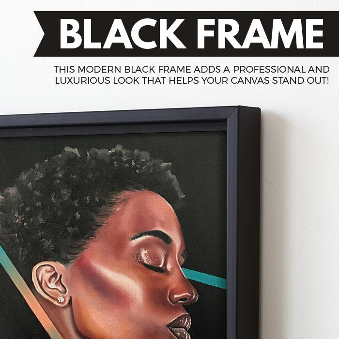 black beauty wall art black frame