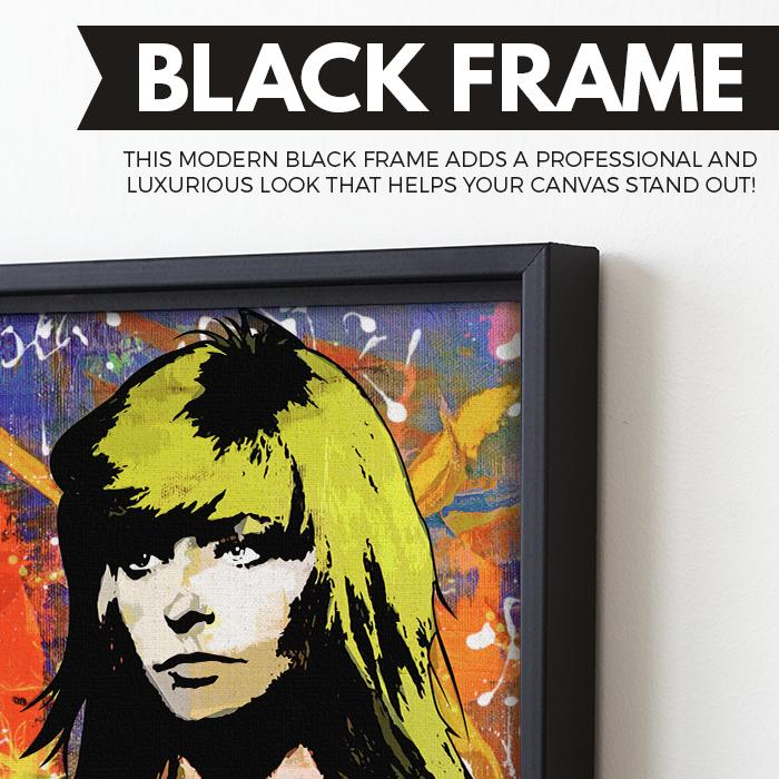 Farrah Fawcett wall art black frame