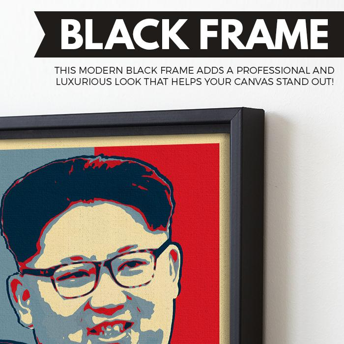 Missile Man wall art black frame