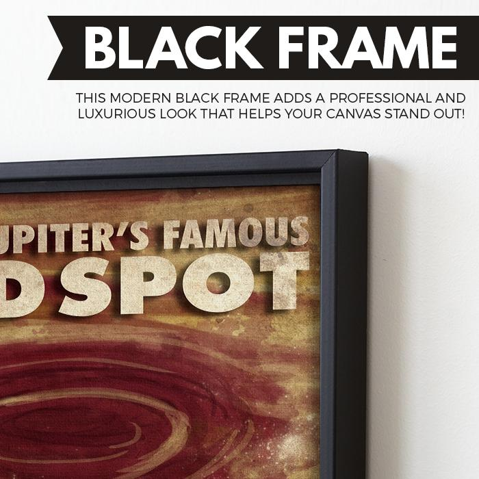 Jupiter - Futuristic Planet Series wall art black frame