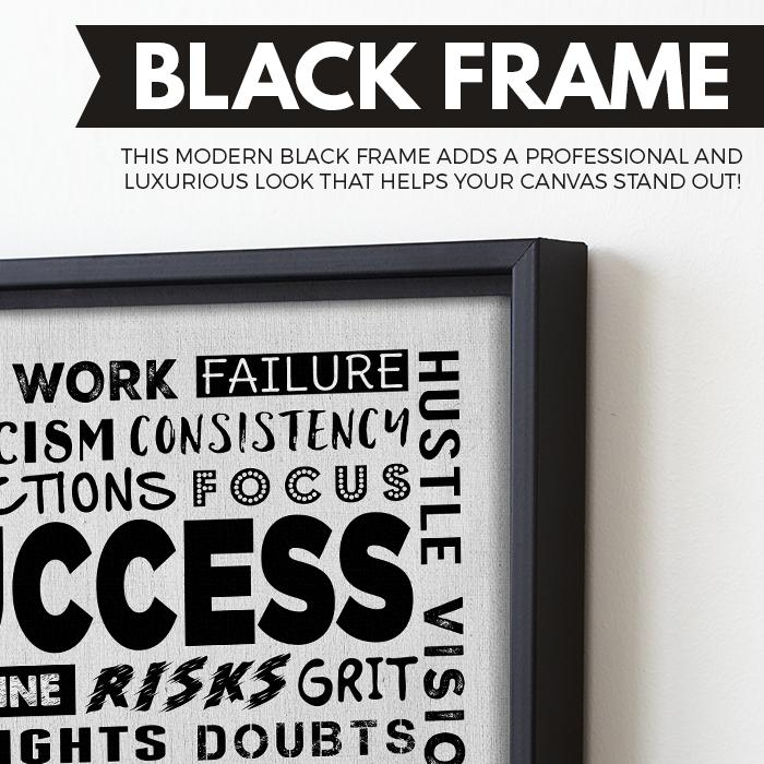 Success Soup wall art black frame