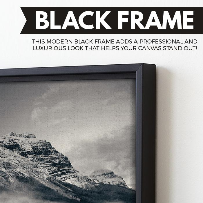Snow Capped Mountain - Banff National Park wall art floating frame