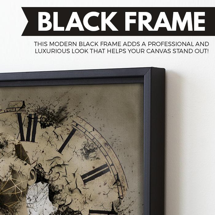 What is Time? wall art black frame