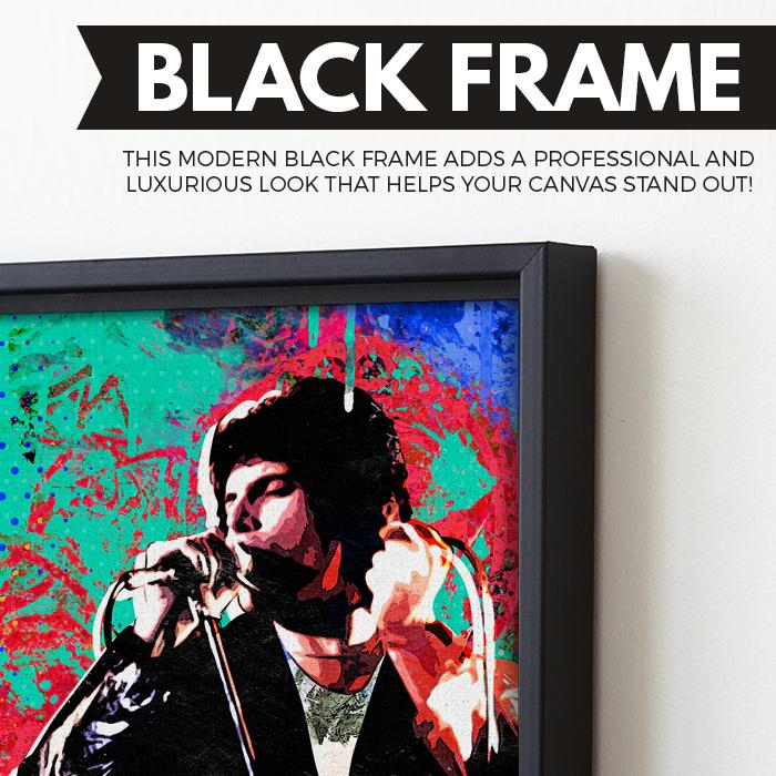 Freddie Mercury wall art black frame