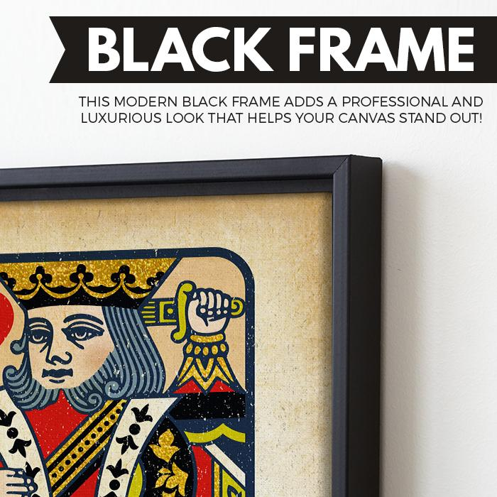 The King wall art black frame