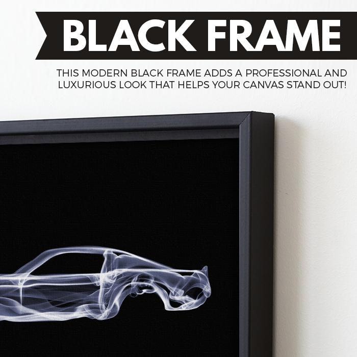 Ford Mustang GT wall art black frame
