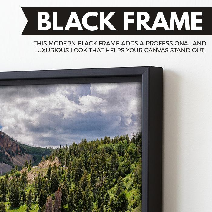 Yellowstone National Park wall art black floating frame