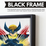 Wolverine wall art black frame
