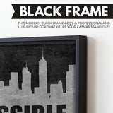 Find The Solution black frame wall art