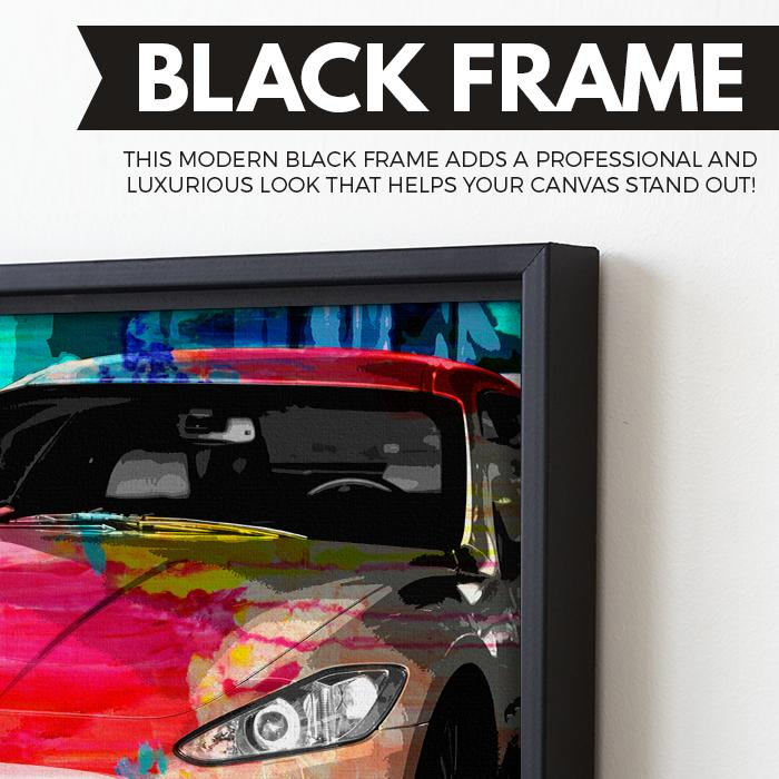 Maserati Nights wall art black frame