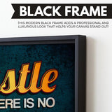 Hustle Like There Is No Tomorrow wall art black frame