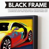 Audi R8 wall art black frame