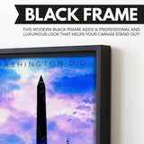 Washington, D.C. wall art black frame