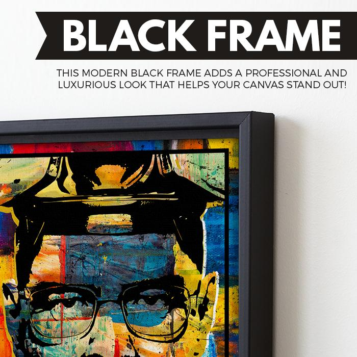 Heisenberg wall art black frame