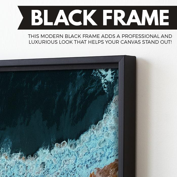 Waves of Solitude wall art black frame