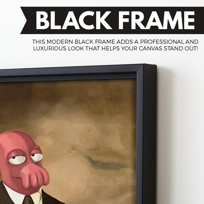 Zoidberg For President wall art black frame