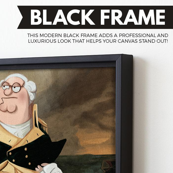 Howie Washington wall art black frame
