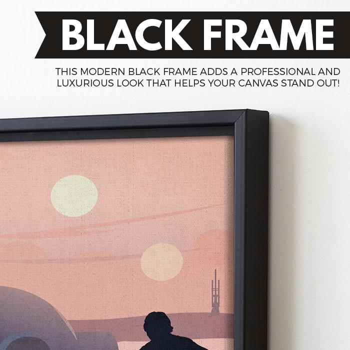 Luke Skywalker wall art black frame