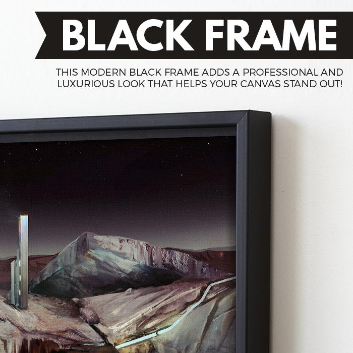 Voyages of Exploration - Pluto wall art black frame