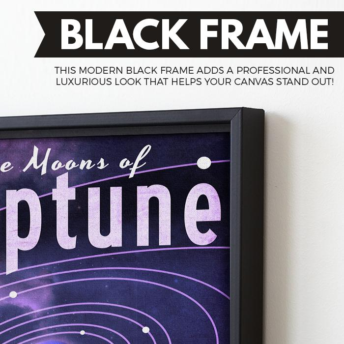 Neptune - Futuristic Planet Series wall art black frame