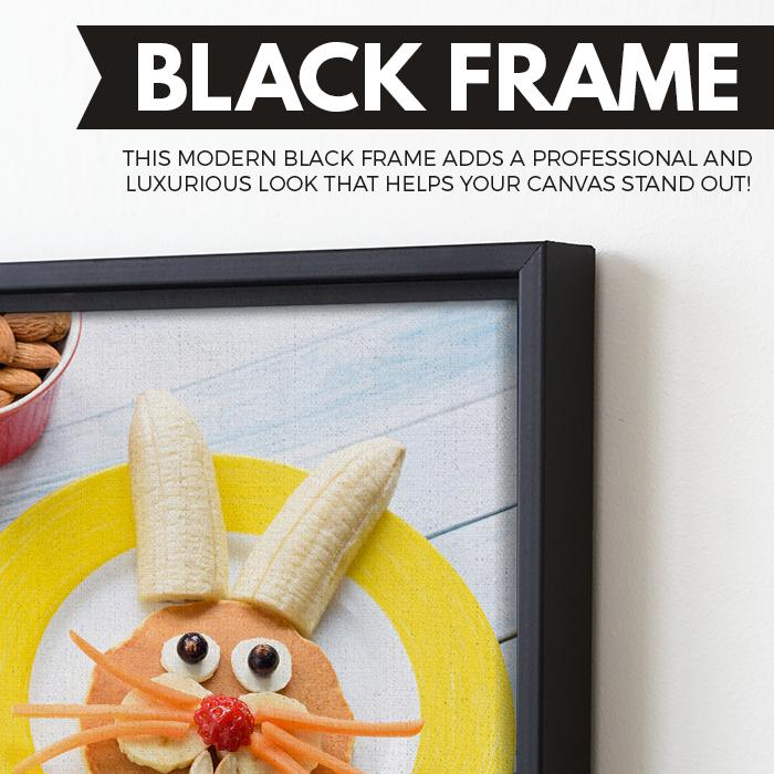 Happy Meal wall art black frame