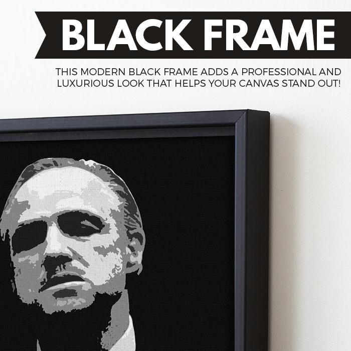 Don Vito Corleone wall art black frame