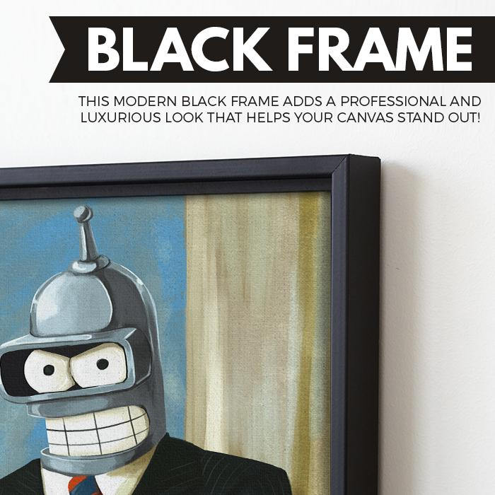 Bender For President wall art black frame
