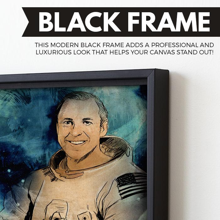 Jim Lovell wall art black frame