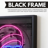 Neon Jackson wall art black frame
