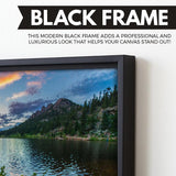 Rocky Mountain National Park wall art black frame
