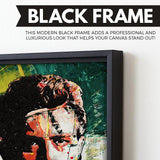 James Dean wall art black frame