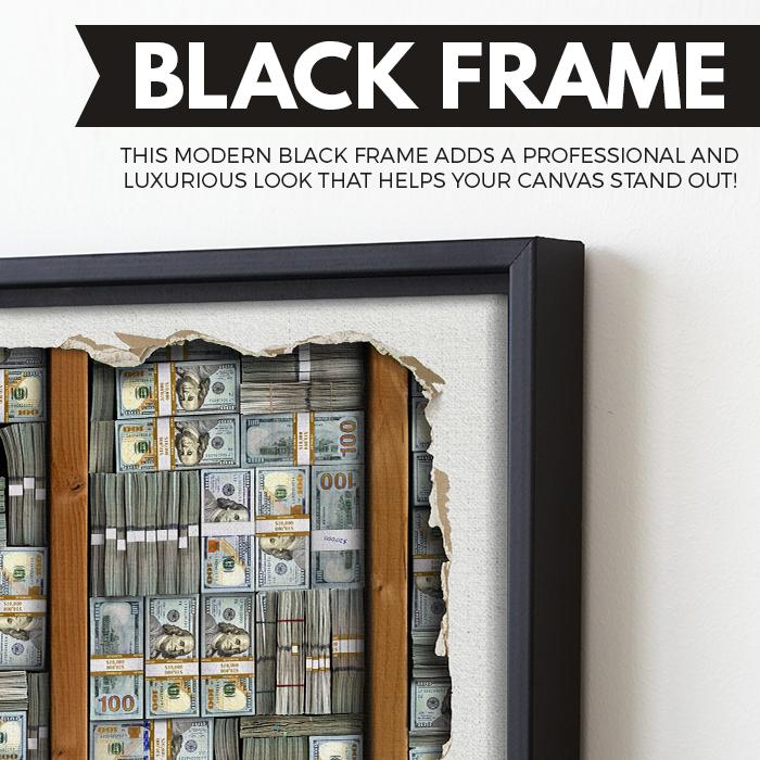 Cash Stash wall art black frame