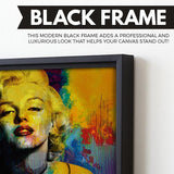 Marilyn Monroe wall art black frame