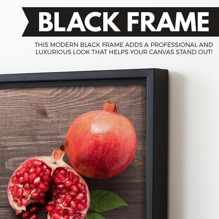 Pomegranate wall art black floating frame