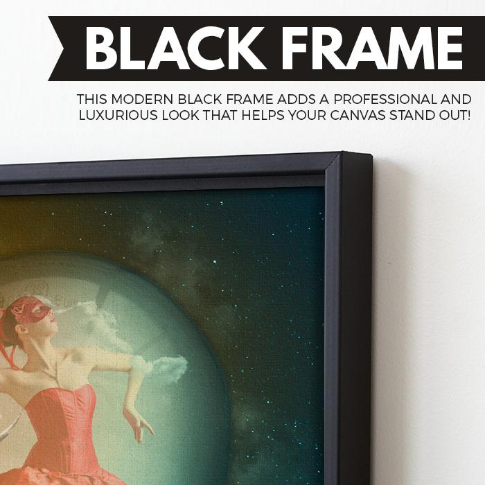 Ballerina Thoughts wall art black frame