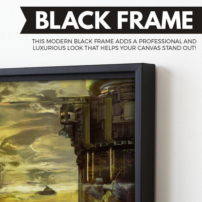Voyages of Exploration - Venus wall art black frame